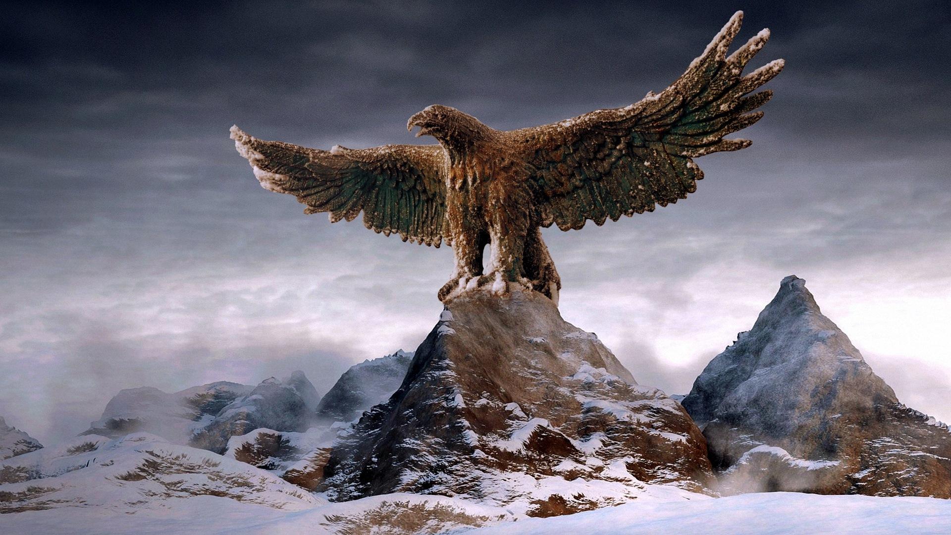 Drachen Gargoyles Adler Und Viele Andere Gartenfiguren Findet