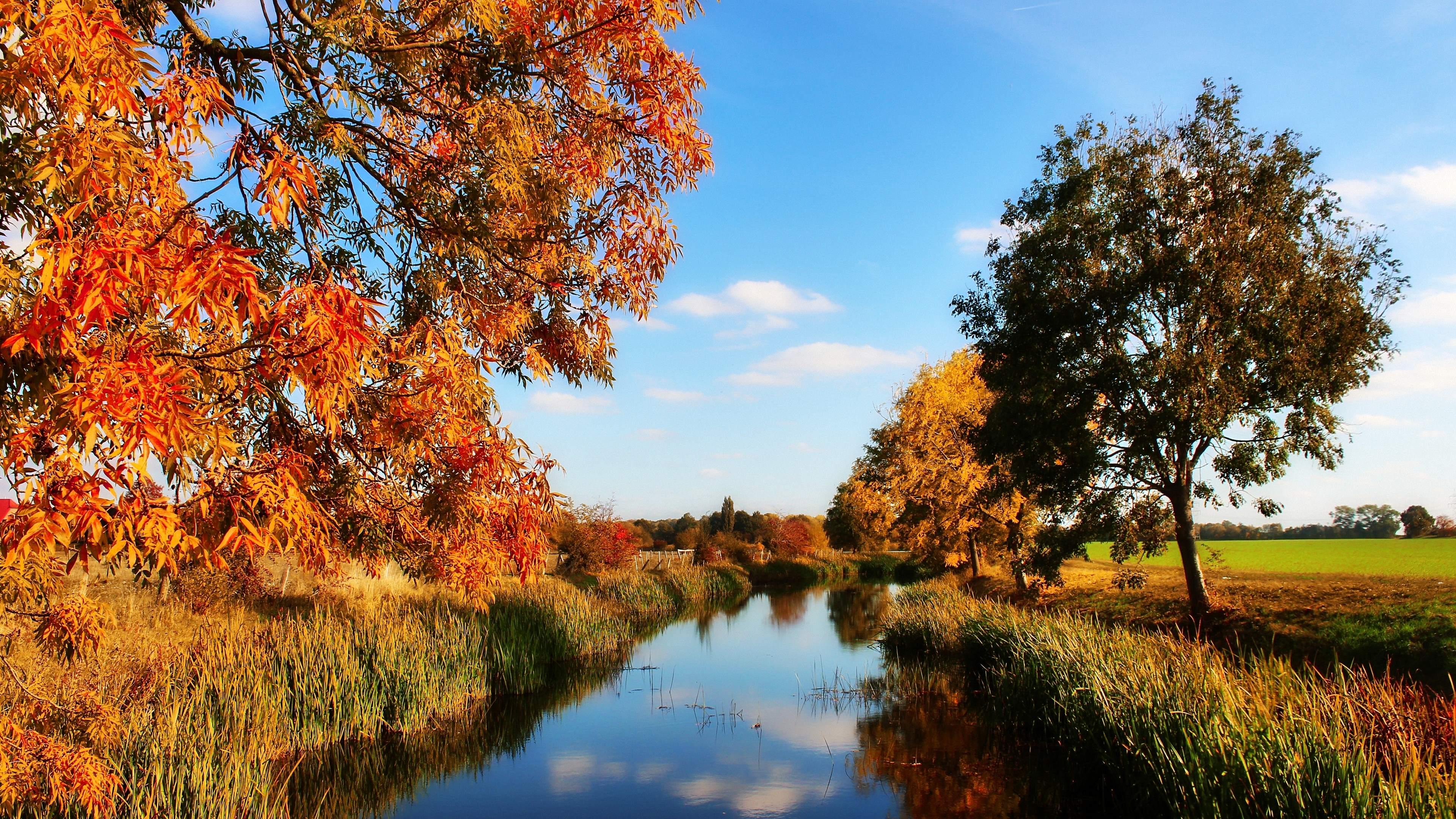 Hintergrundbilder 4K Herbstlandschaft Kostenlos