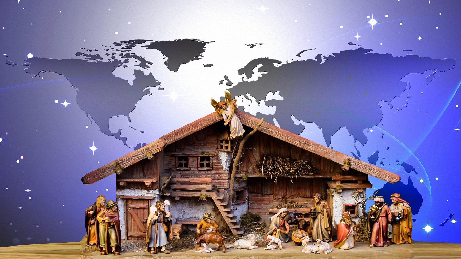 Weihnachtsbilder Hd.Hintergrundbilder Weihnachtskrippen 1920x1080 Full Hd